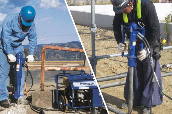丸善工業 道路工事、建設工事等で使用される小型建設機械